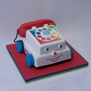 Fisher Price telephone birthday cake
