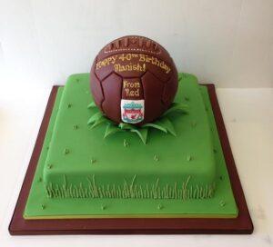Old fashioned football cake