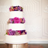 Fresh flowers in tiers