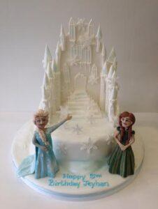 Frozen themed castle cake