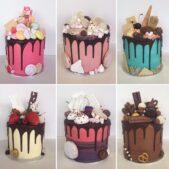 Full set of elaborate celebration cakes