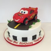Lightening McQueen birthday cake