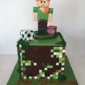 Alex from Minecraft birthday cake