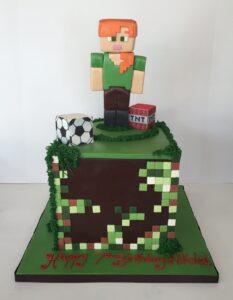 Alex from Minecraft birthday cake