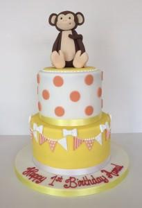 Monkey chidlren's birthday cake