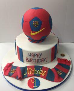 Barcelona Football club birthday cake