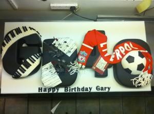Gary Barlow's birthday cake