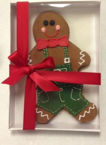 Gingerbread man cookie gift box