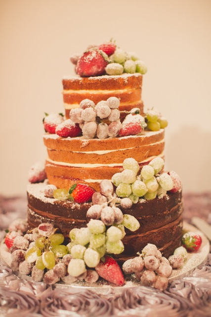 glace fruit naked cake
