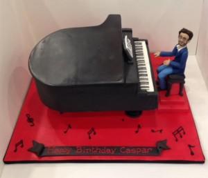 Birthday cake grand piano