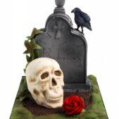 Grave yard Halloween cake