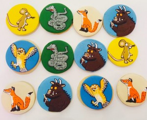 Gruffalo themed birthday cookies