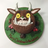 Gruffalo head cake