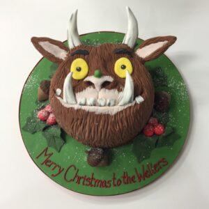 Gruffalo head Christmas cake