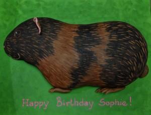 Guinea pig animal birthday cake