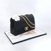 Handbag themed 21st birthday cake – Black