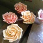 Handmade sugar roses