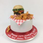 Happy 16th Burger Cake
