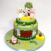 Happy 1st Birthday Farmyard Cake