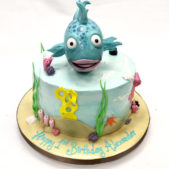 Happy 1st birthday Alexander – Fish themed cake