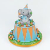 Happy 1st birthday elephant cake