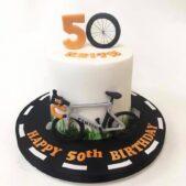 Happy 50th Bike cake