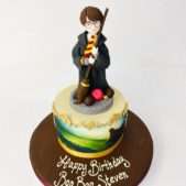 Harry Potter and Quidditch Themed Birthday Cake