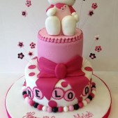 Hello Kitty 2 tier cake