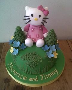Hello Kitty sugar model birthday cake
