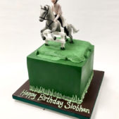 Horse Riding themed bithday cake