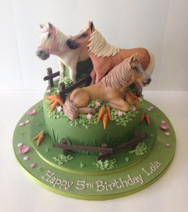 Horse model birthday cake