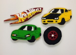 Hot Wheels themed cookies