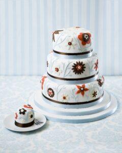 I heart noveau wedding cake