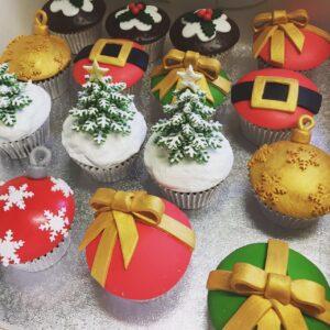 Christmas cupcakes London