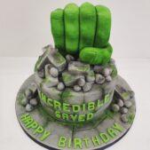 Superhero Hulk Cake