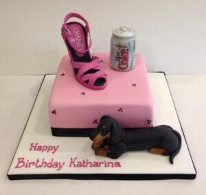 Shoe dog and diet coke birthday cake