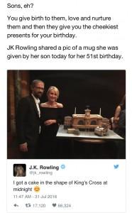 JK Rowling Birthday Cake