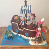 Jake and the Neverland Pirate ship cake