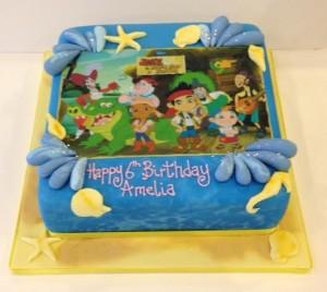 Jake and the neverland pirates budget birthday cake
