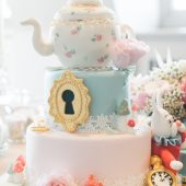 Alice in Wonderland themed party cake