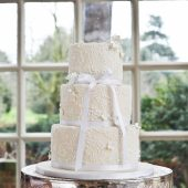 Traditional piped wedding cake