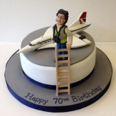 Lady on cake