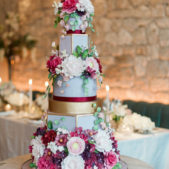 Large Flower Wedding Cake