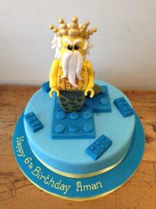 Lego birthday cake sugar model