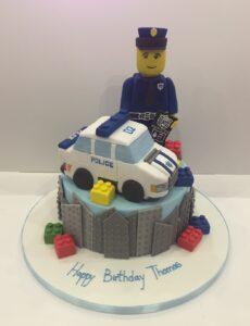 Lego City birthday cake