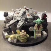 Lego Star Wars cake Millenium Falcon