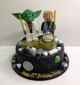 Lego Starwars birthday cake