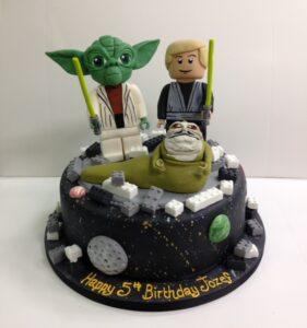 Lego Starwars birthday cake
