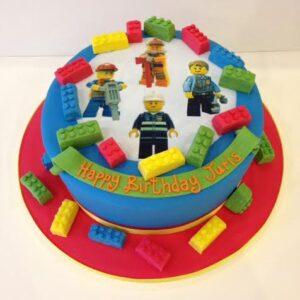 transfer lego birthday cake