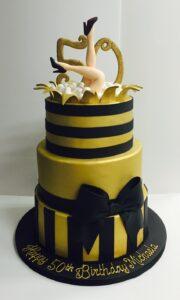 Girly 50th birthday cake